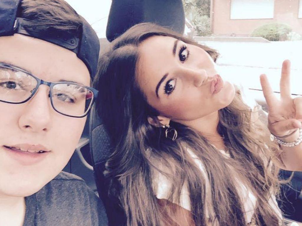 Gianluca Engels mit seiner Schwester Sarah Lombardi