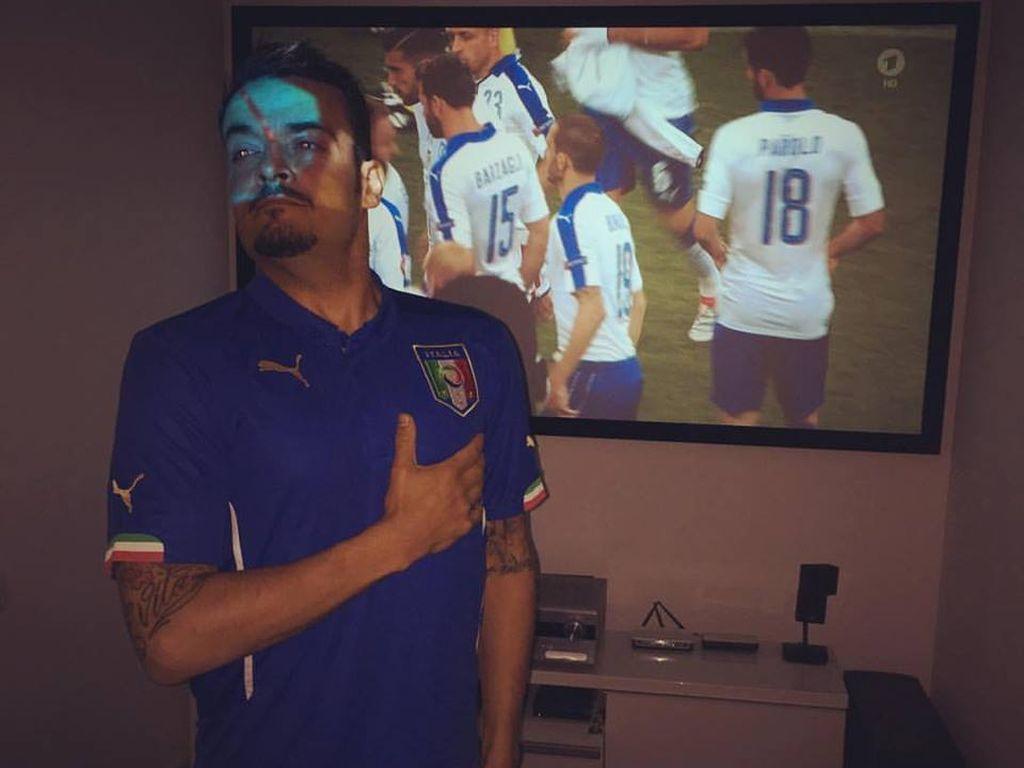 Giovanni Zarrella beim EM-Spiel Italien gegen Belgien