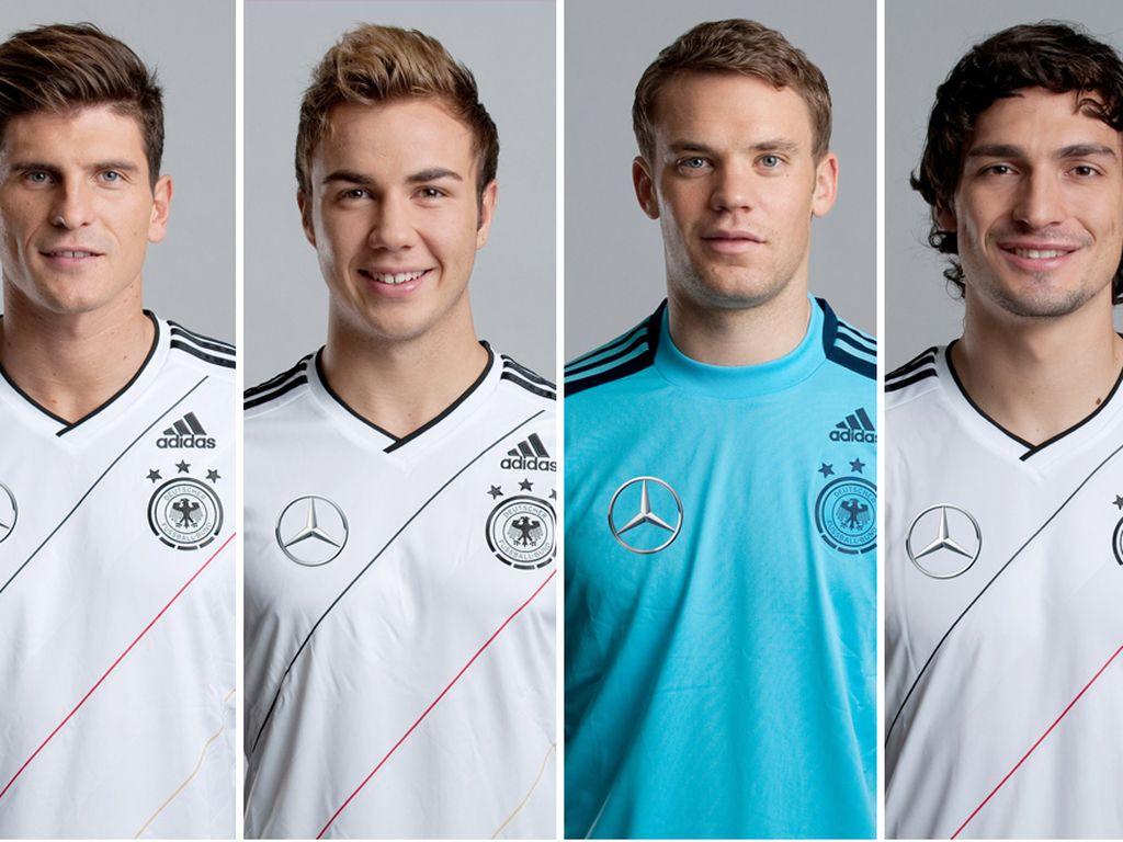 Lukas Podolski, Mats Hummels, Mario Götze, Manuel Neuer, Sami Khedira und EM 2012