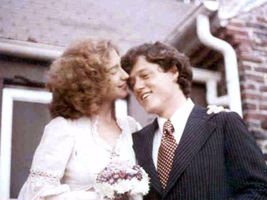 Hillary und Bill Clinton bei ihrer Hochzeit