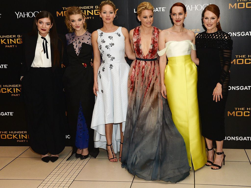 Jennifer Lawrence, Julianne Moore, Jena Malone, Natalie Dormer, Elizabeth Banks und Lorde