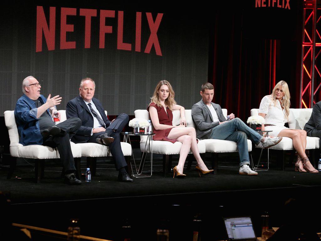 """Sense8""-Darsteller Jamie Clayton, Brian J. Smith, Daryl Hannah und Naveen Andres"