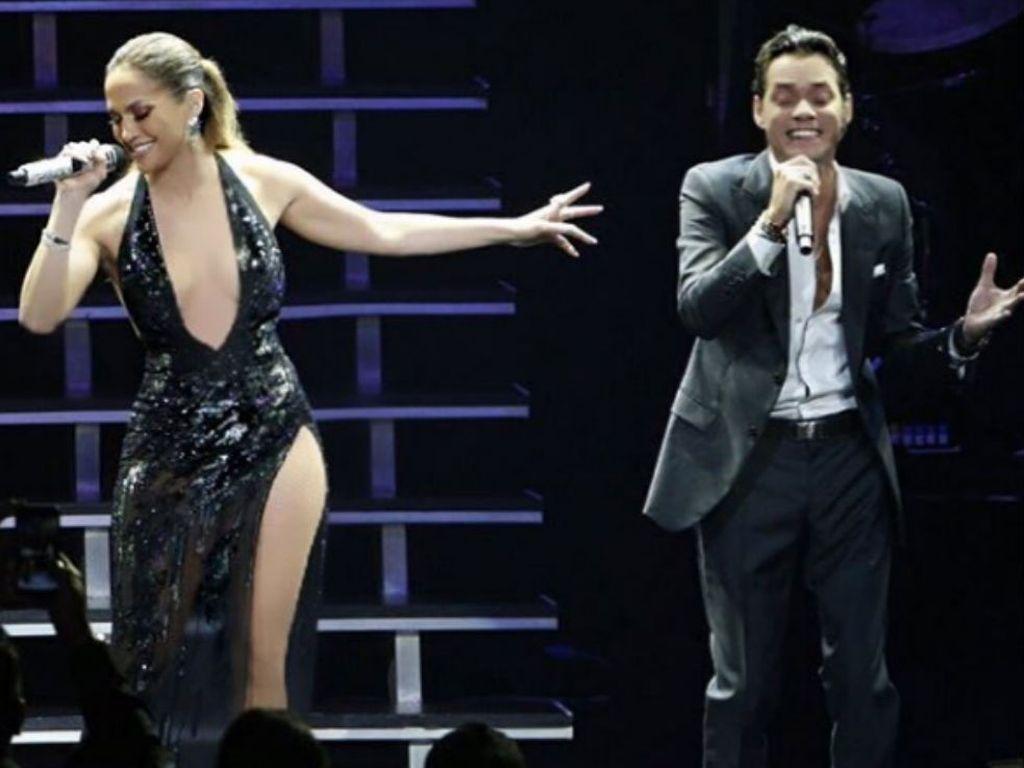 Jennifer Lopez (l.) und Marc Anthony