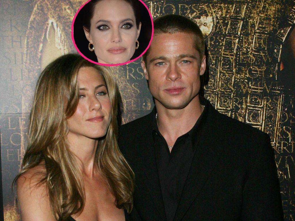 Jennifer Aniston, Angelina Jolie und Brad Pitt