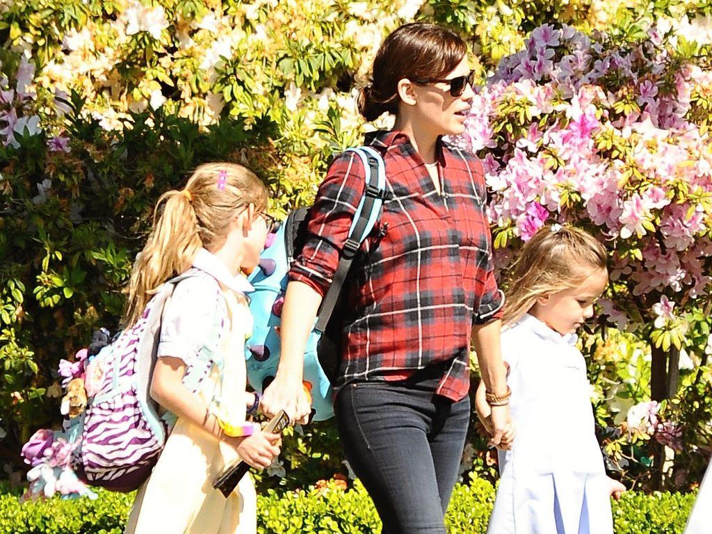 Jennifer Garner mit ihren Töchtern Seraphina und Violet