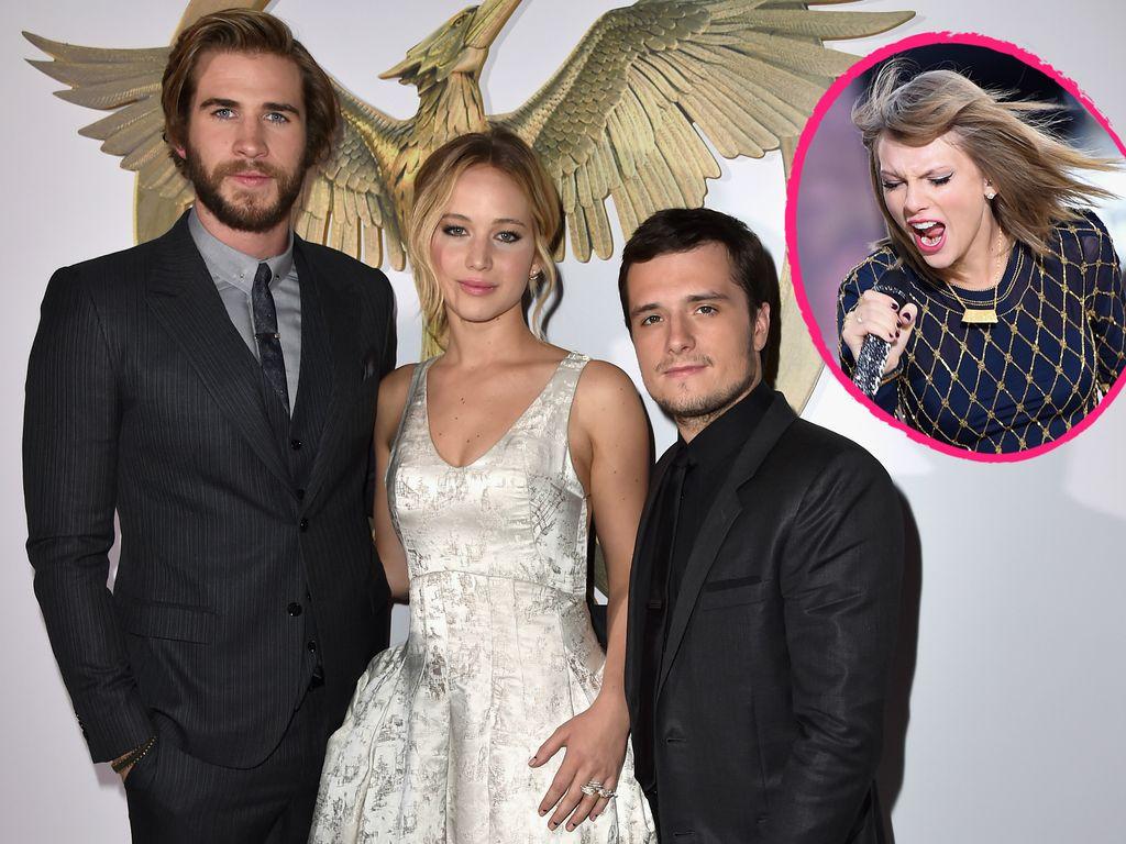 Taylor Swift, Liam Hemsworth, Jennifer Lawrence und Josh Hutcherson