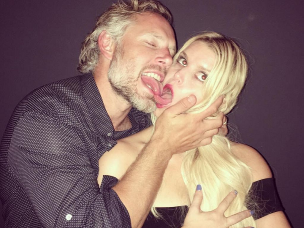 Eric Johnson und Jessica Simpson