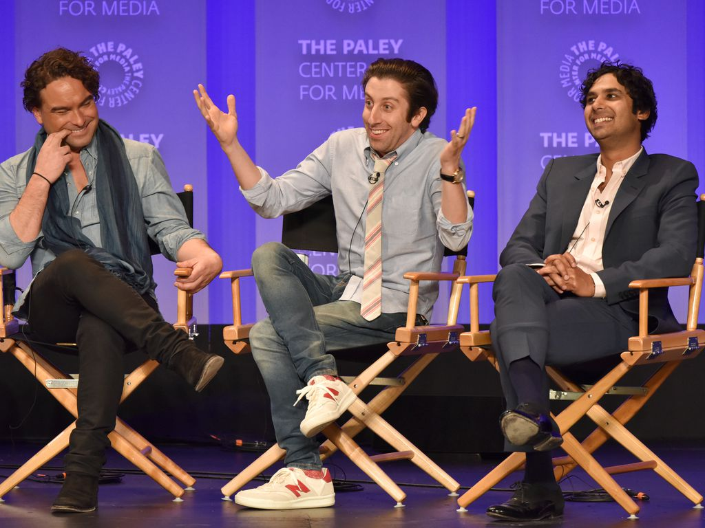 "Johnny Galecki, Simon Helberg und Kunal Nayyar, Stars der Serie ""The Big Bang Theory"""