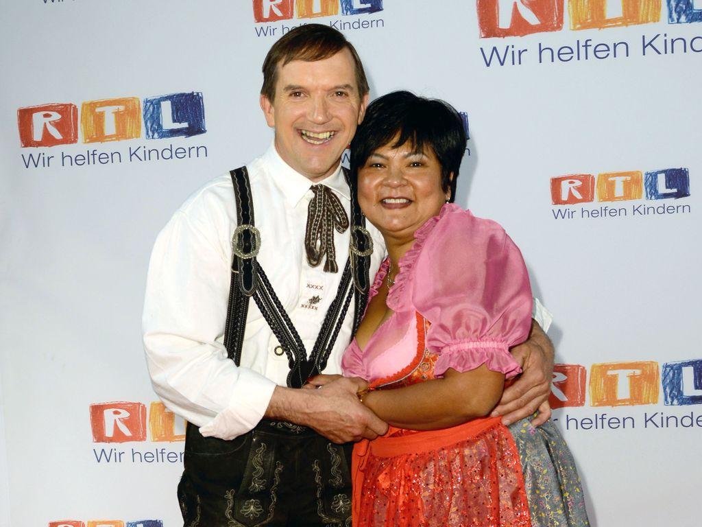Josef und Narumol beim RTL Spendenmarathon