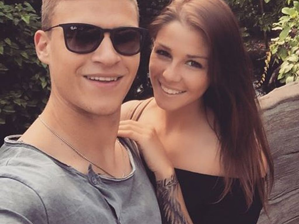 Nationalspieler Joshua Kimmich und seine Freundin Lina Meyer