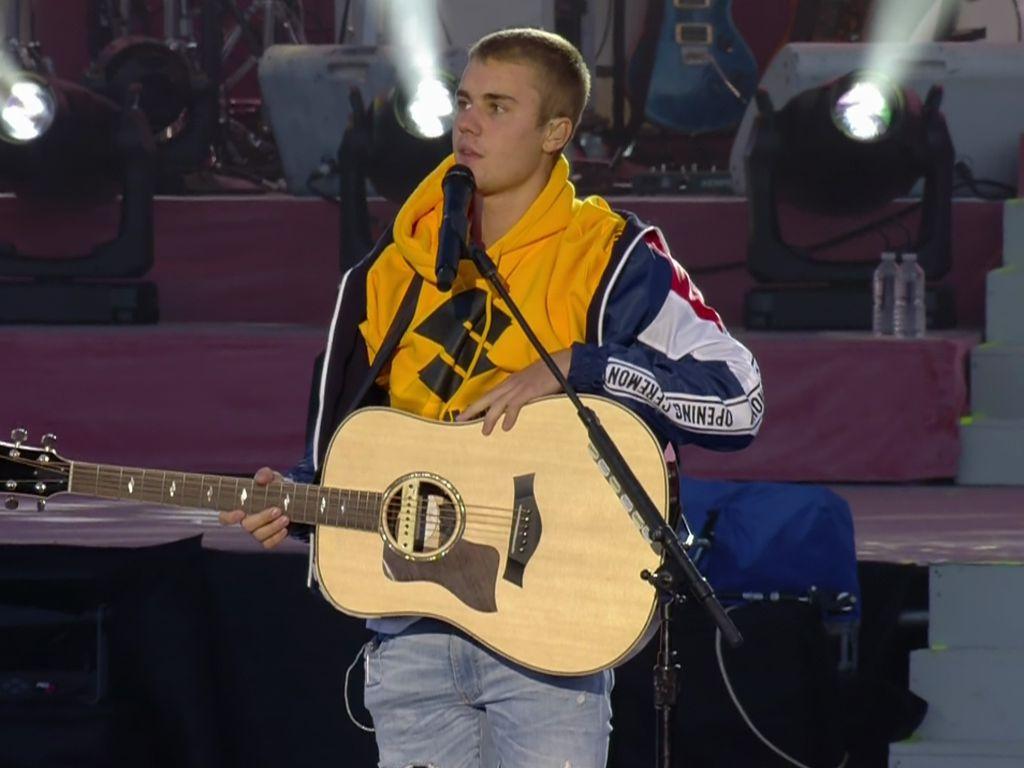 """Justin Bieber beim """"One Love Manchester""""-Konzert"""