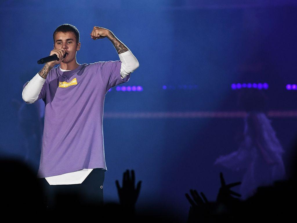 Justin Bieber beim Konzert in Paris