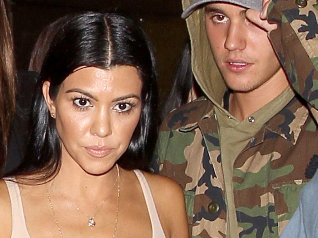 Sänger Justin Bieber und Kourtney Kardashian