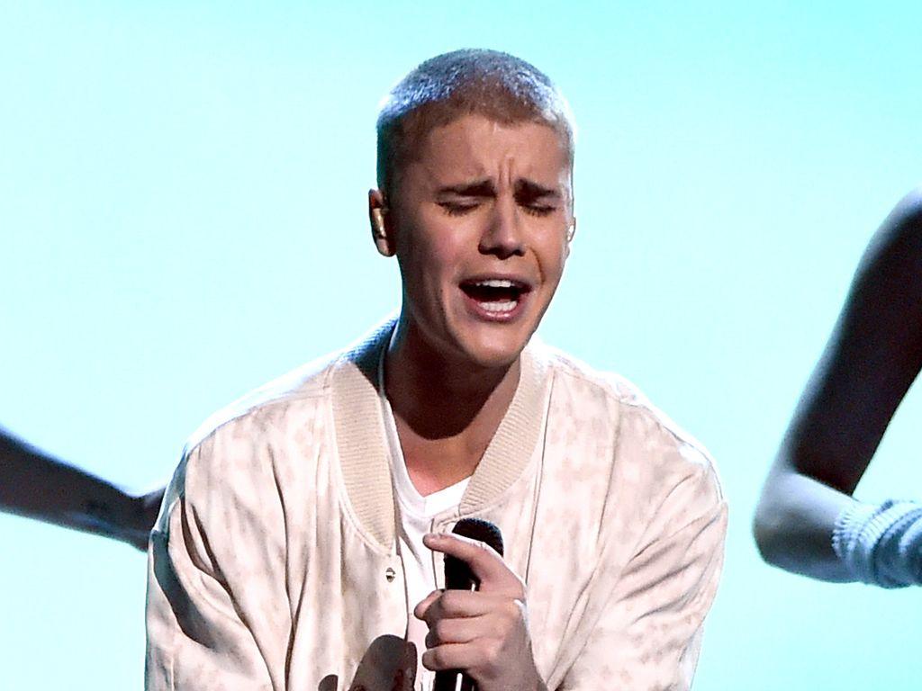 Justin Bieber auf der Bühne