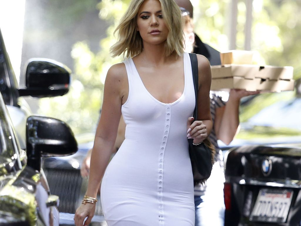 "Khloe Kardashian auf dem Weg zum ""Keeping up with the Kardashians""-Dreh"