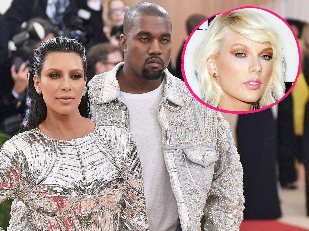 Kim Kardashian, Kanye West und Taylor Swift