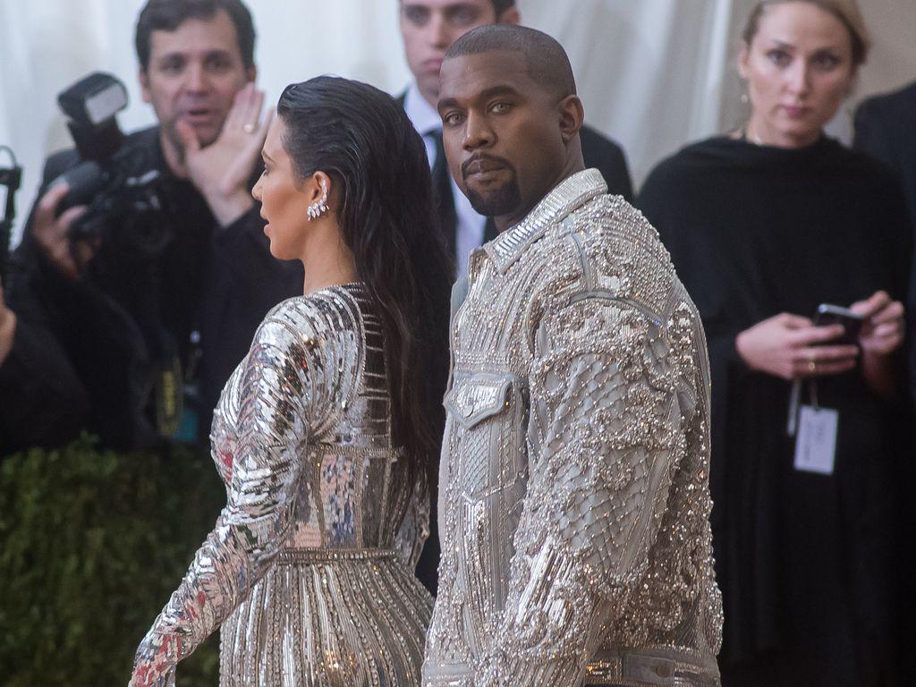 Kim Kardashian und Kanye West bei der Met-Gala in NYC
