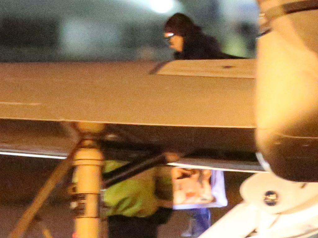 Kim Kardashian bei ihrer Landung in Los Angeles