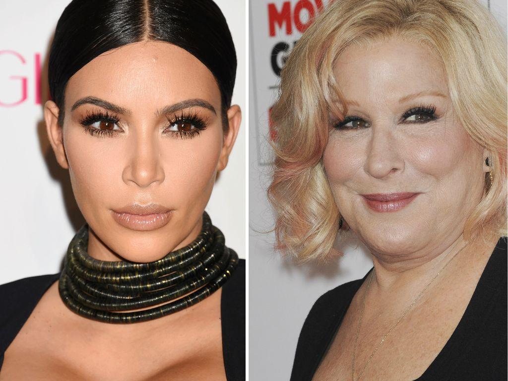 Kim Kardashian und Bette Midler