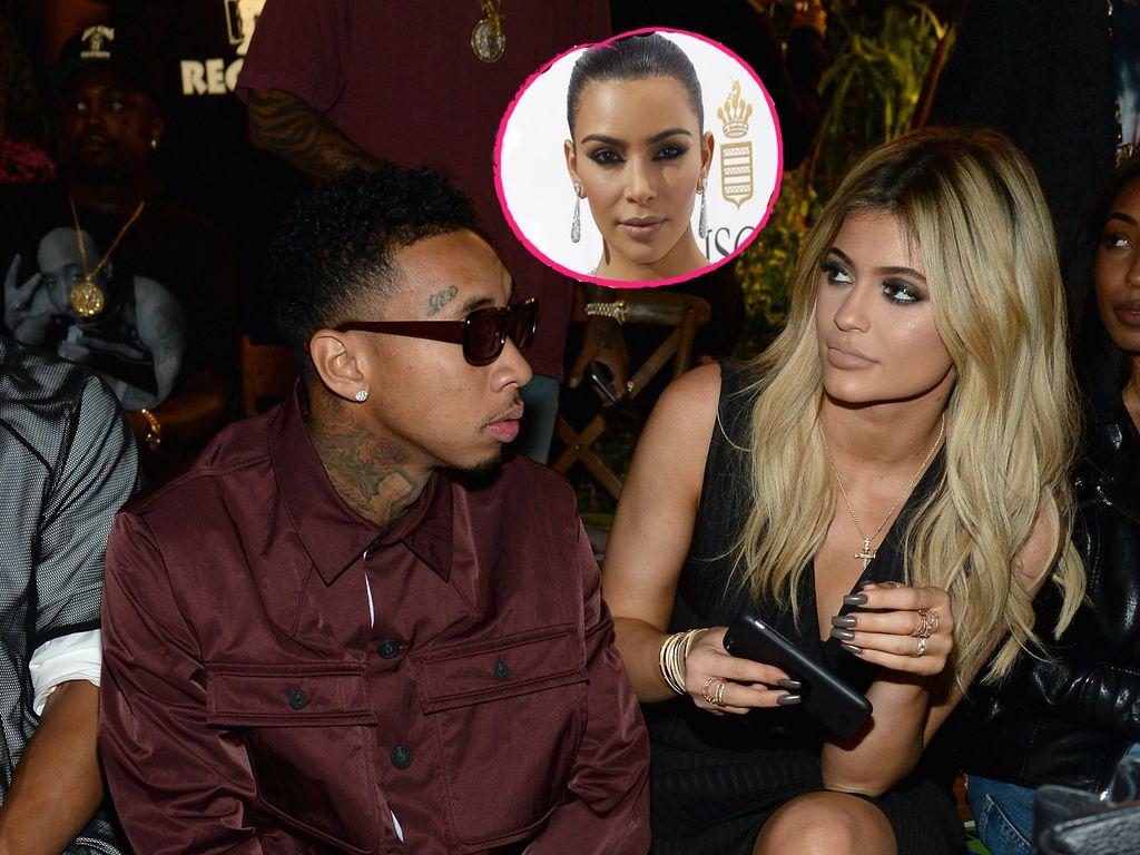 Tyga, Kylie Jenner und Kim Kardashian