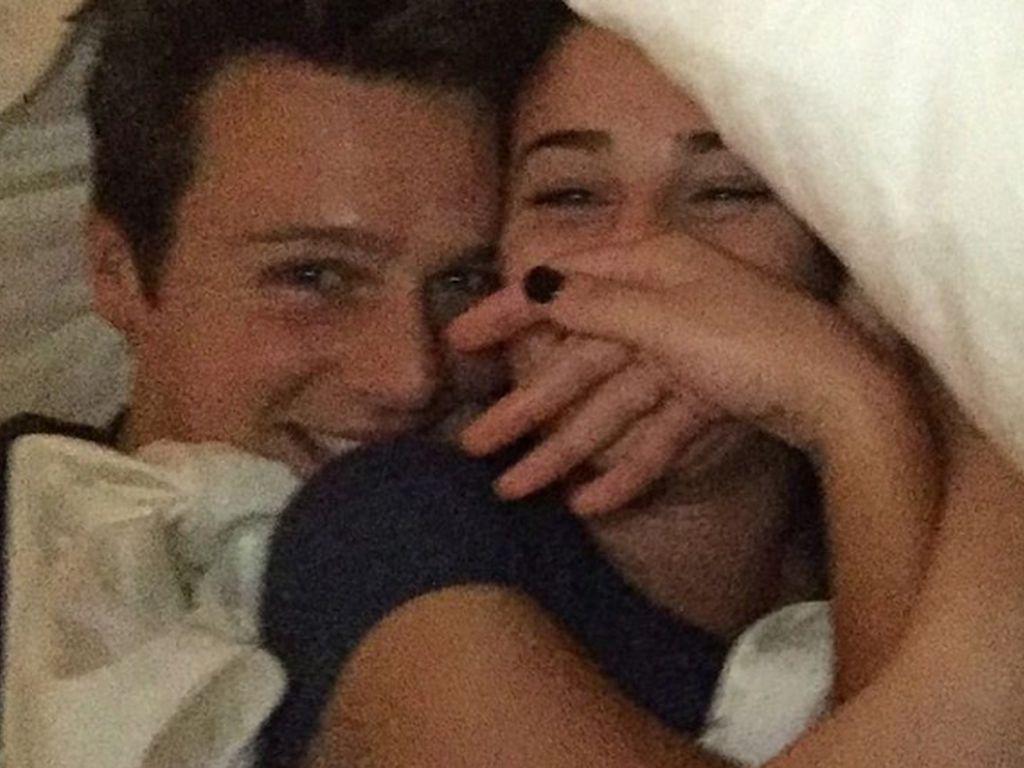 Lea Michele und Jonathan Groff