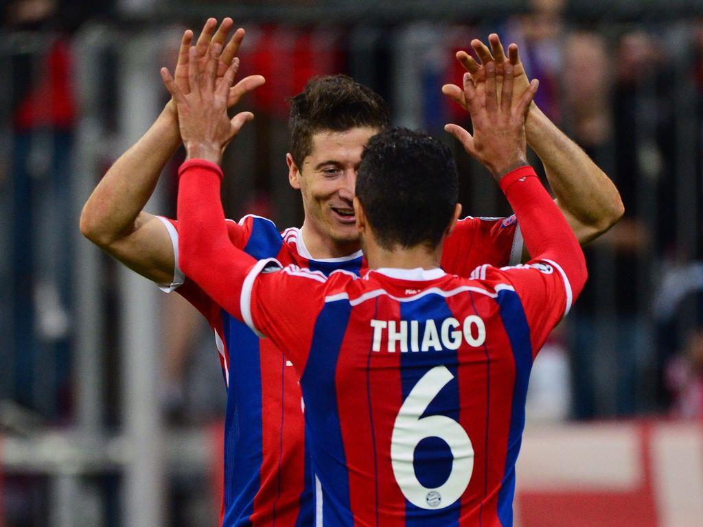 Robert Lewandowski und Thiago Alcántara