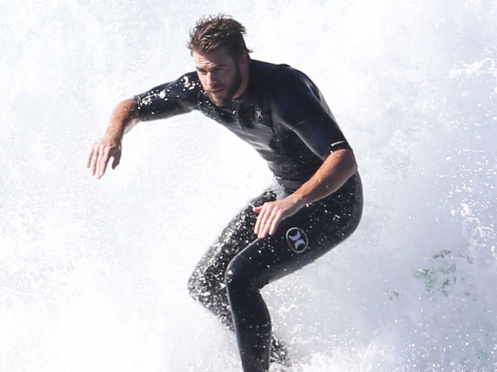 Liam Hemsworth in Malibu