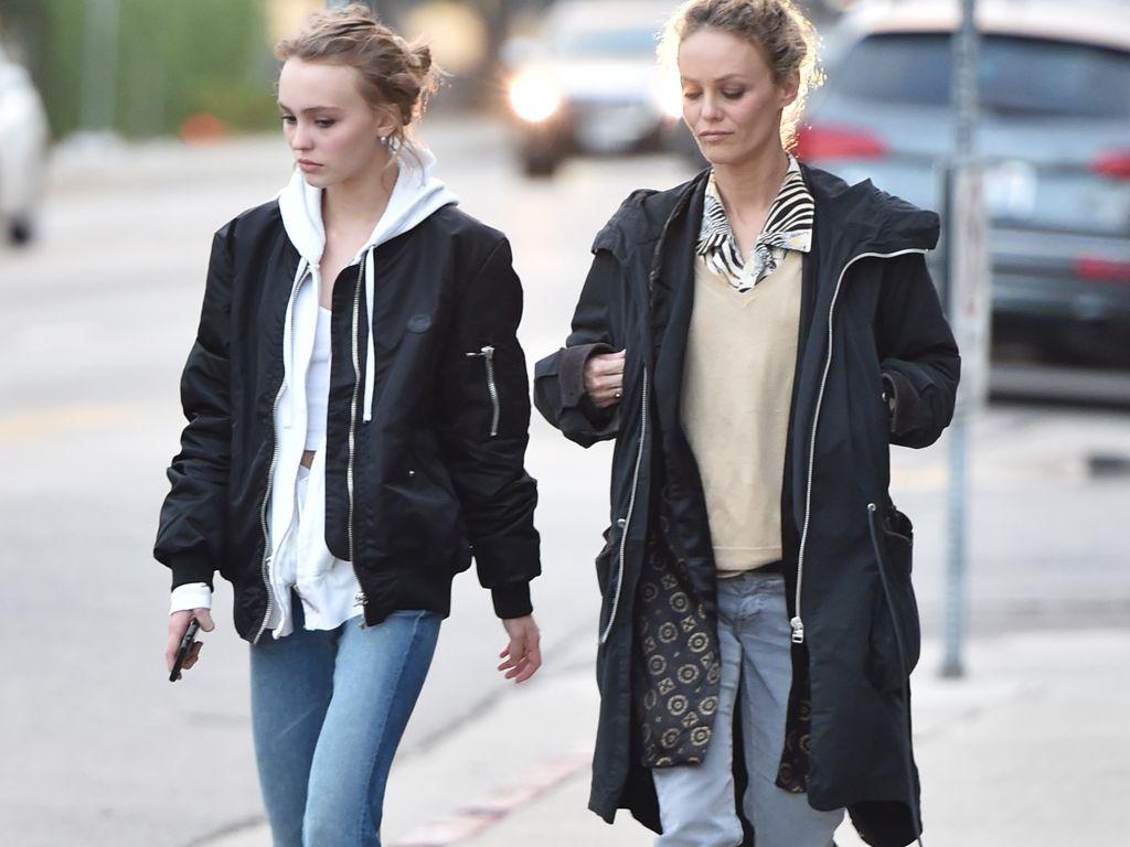 Lily-Rose Depp und Vanessa Paradis