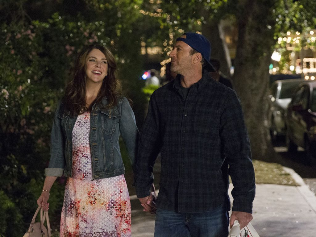 "Lauren Graham & Scott Patterson am ""Gilmore Girls""-Set"