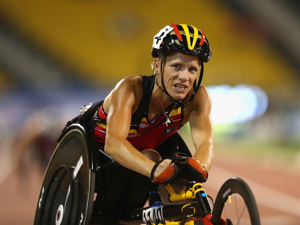 Marieke Vervoort nach einem Rennen