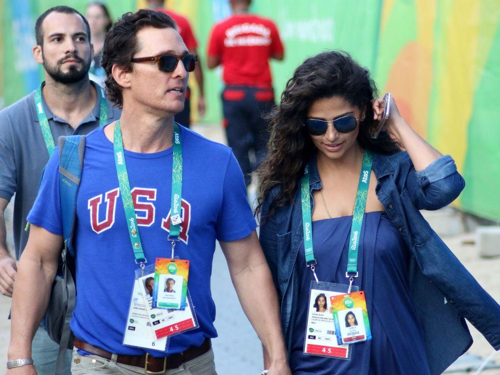 Matthew McConaughey und Camila Alves bei den Olympischen Spielen in Rio