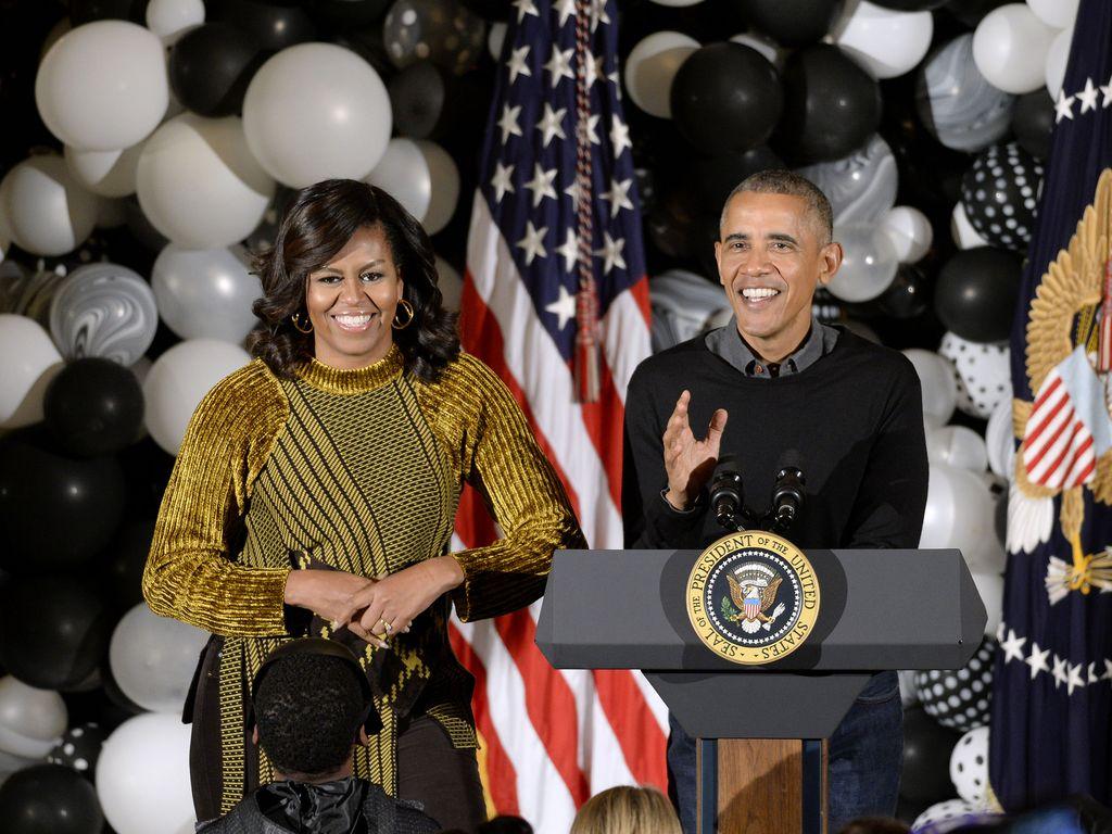 Michelle und Barack Obama auf der Halloween Party im Weißen Haus 2016