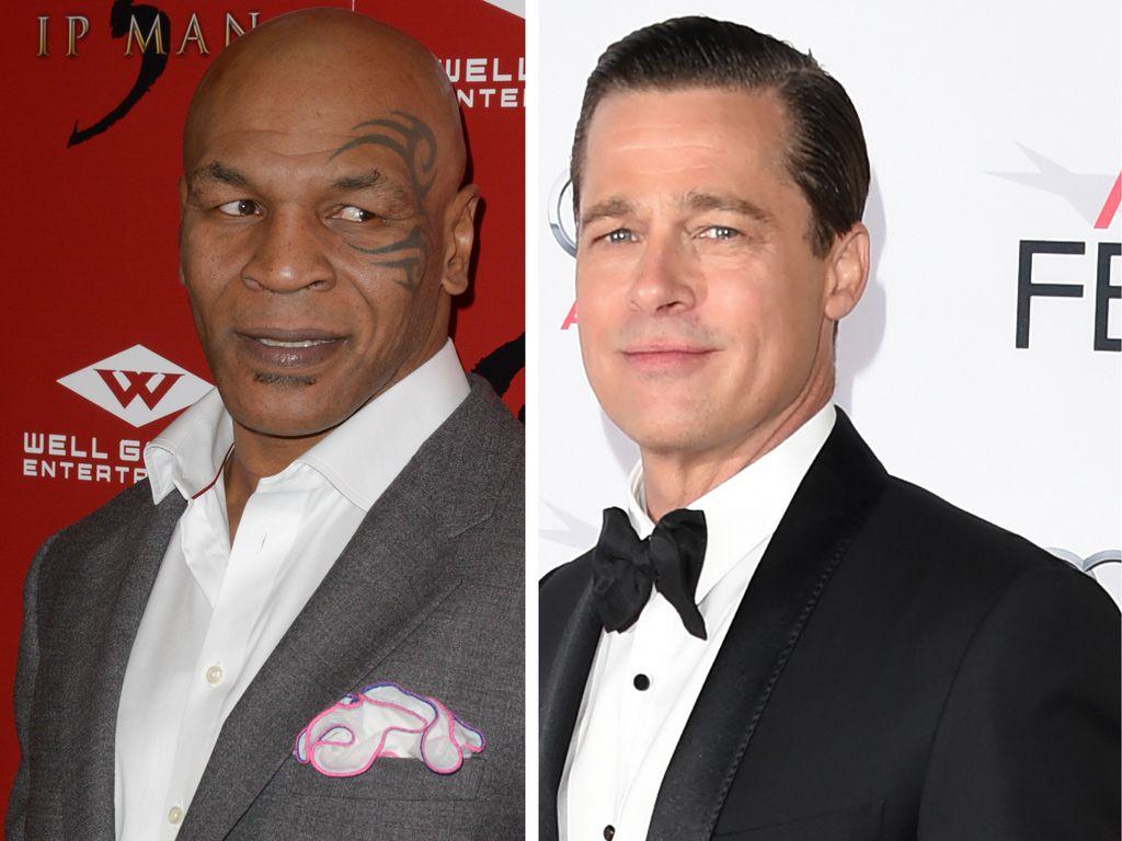 Brad Pitt und Mike Tyson