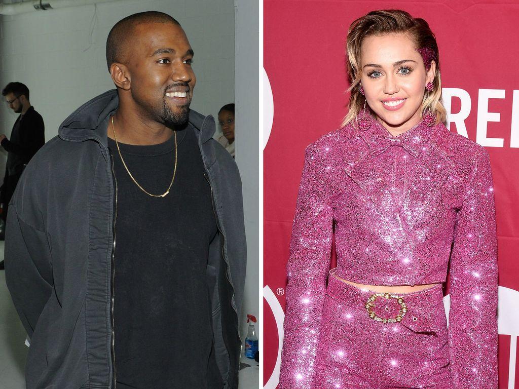 Miley Cyrus und Kanye West