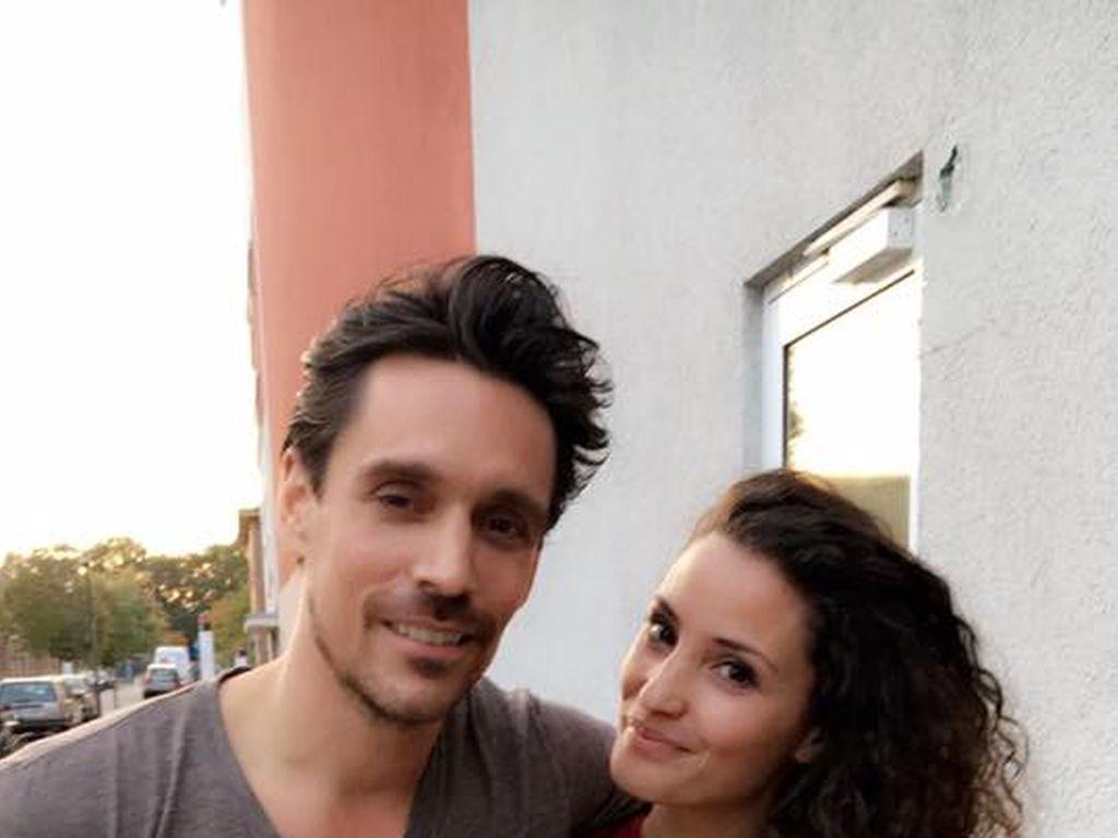 Philipp Christopher und Nadine Menz bei ihrem letzten GZSZ-Drehtag