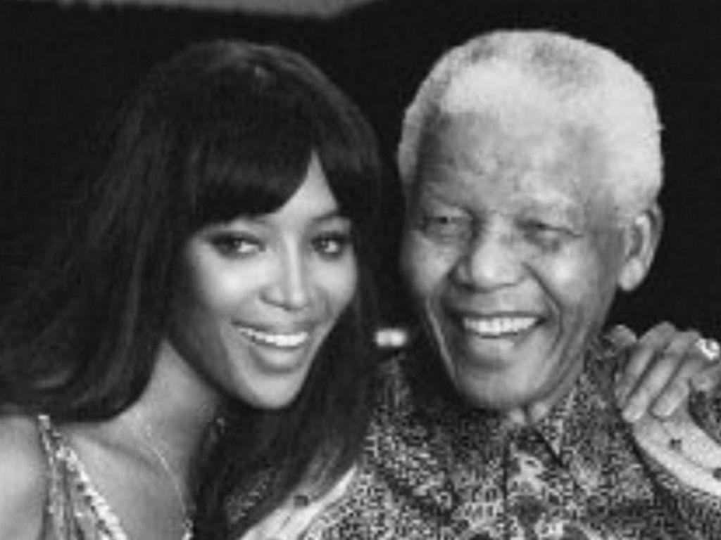 Naomi Campbell und Nelson Mandela