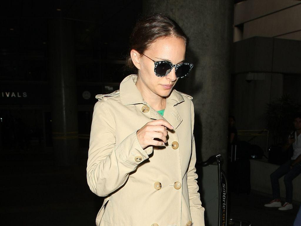 Natalie Portman am Flughafen in Los Angeles