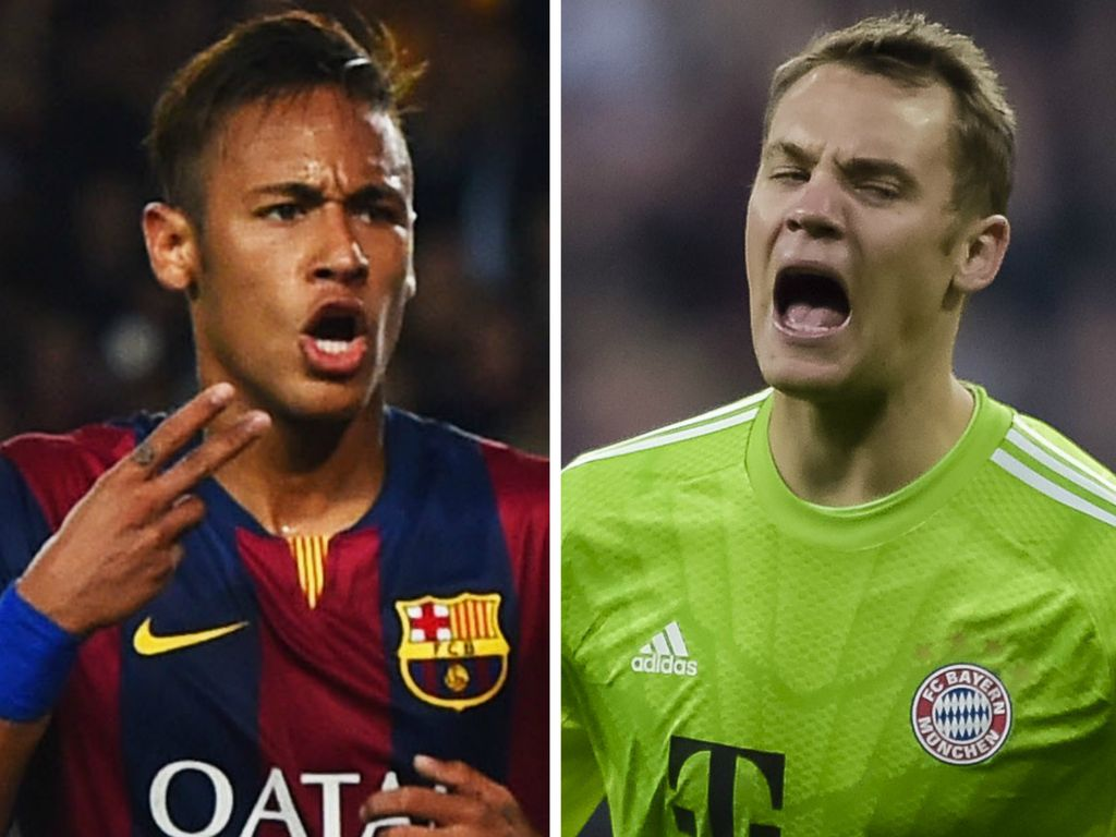 Manuel Neuer und Neymar Jr.