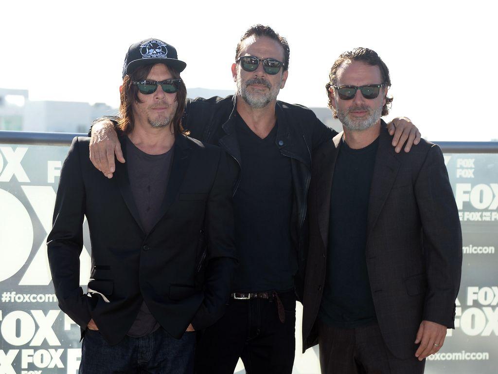 Norman Reedus, Jeffrey Dean Morgan und Andrew Lincoln
