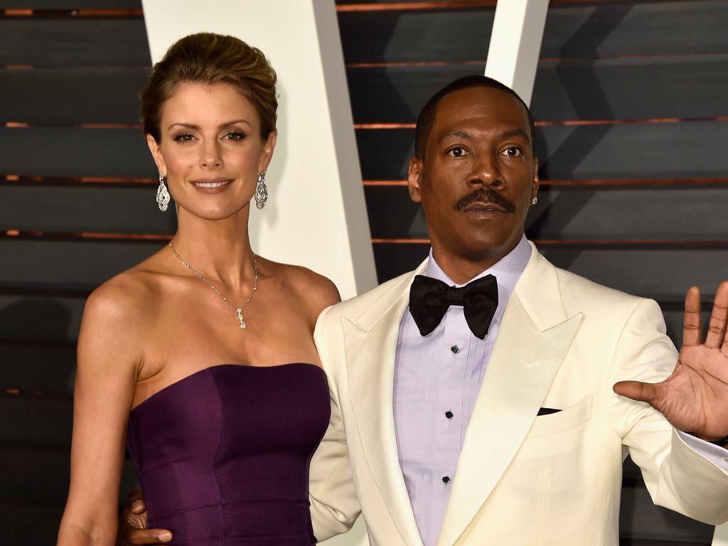 Paige Butcher und Eddie Murphy bei der Oscar-Party 2015