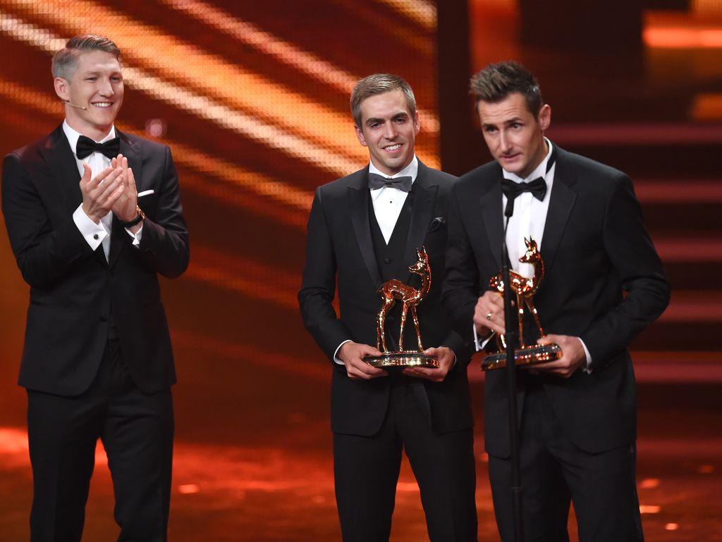 Bastian Schweinsteiger, Philipp Lahm und Miroslav Klose
