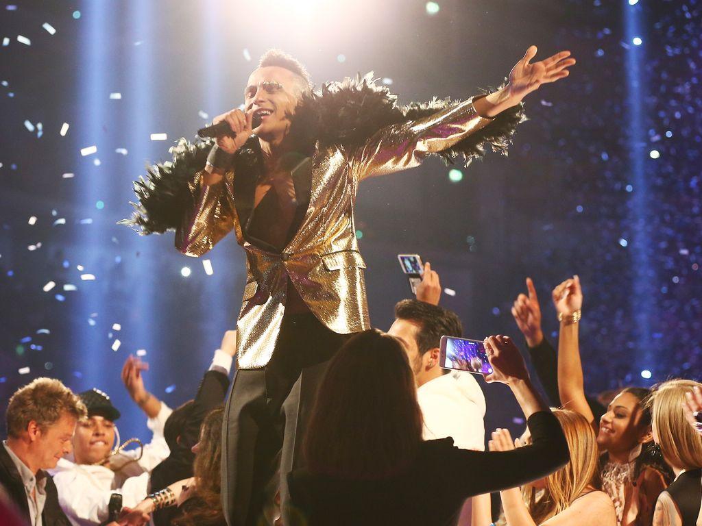 Prince Damien bei seiner Sieger-Performance bei DSDS 2016
