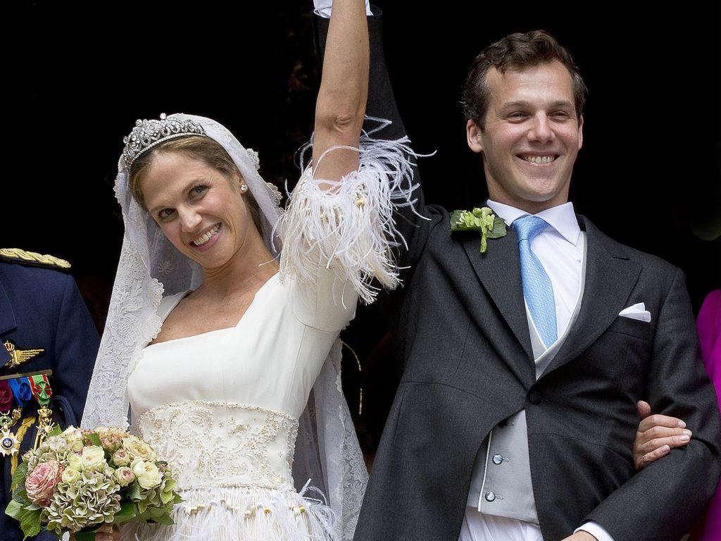 Prinzessin Alix de Ligne und Graf Guillaume de Dampierre bei ihrer Hochzeit