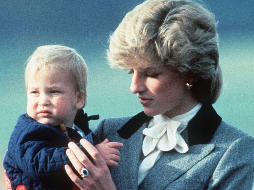 Prinz William und seine Mutter Prinzessin Diana im Jahr 1983