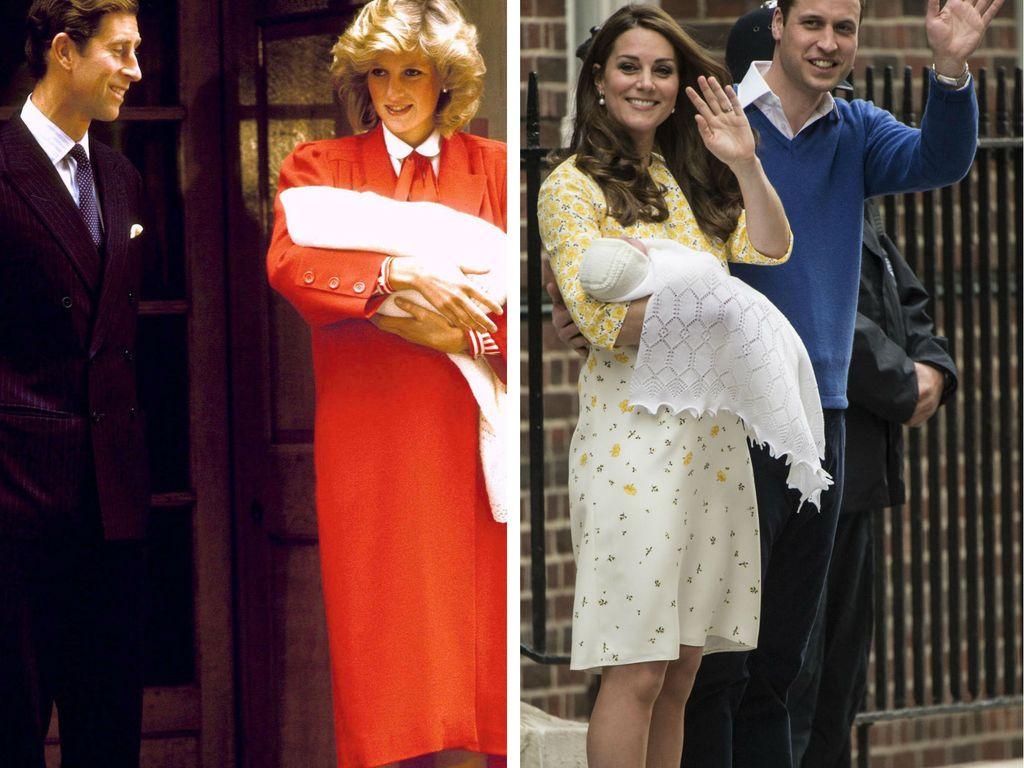 Herzogin Kate, Prinz William, Prinz Charles und Prinzessin Diana