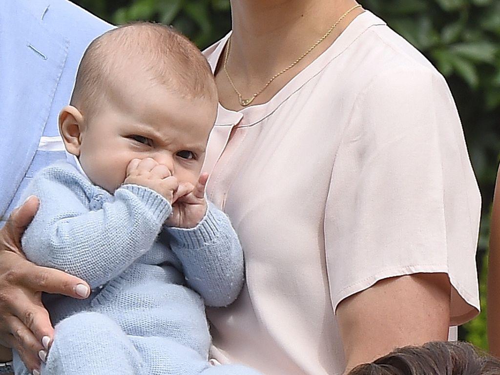 Prinzessin Victoria von Schweden mit Prinz Oscar