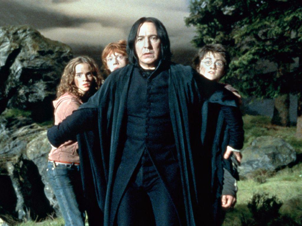Alan Rickman, Emma Watson, Daniel Radcliffe und Rupert Grint