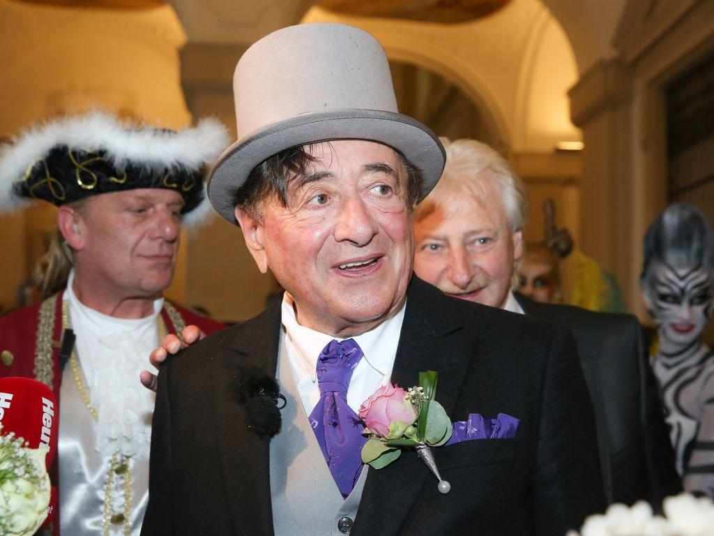 Richard Lugner bei seiner Hochzeit mit Cathy Lugner 2014