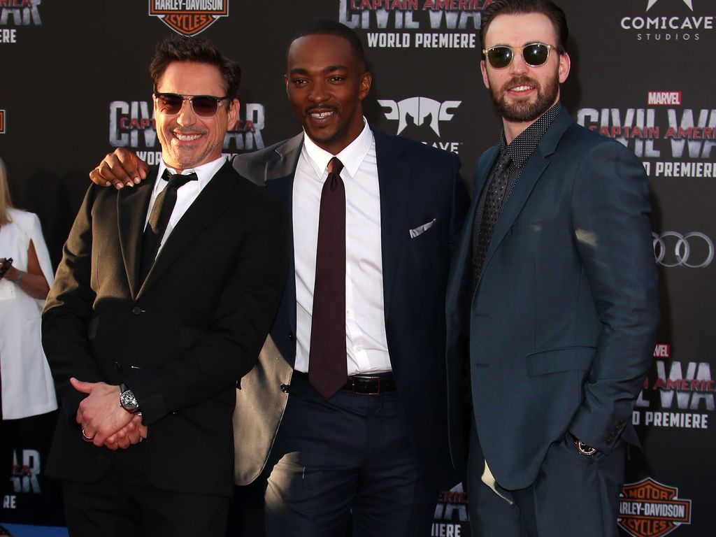 Robert Downey Junior, Chris Evans und Anthony Mackie
