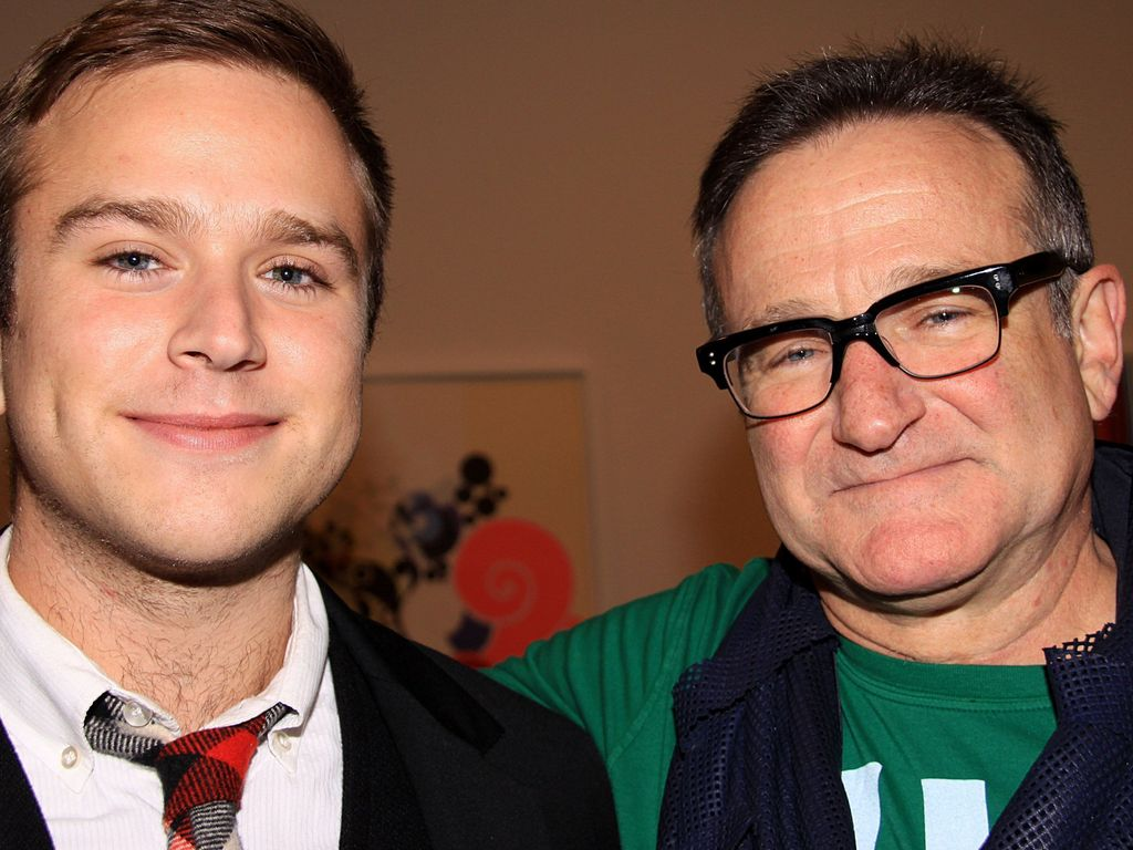 Robin Williams und Zachary Pym Williams
